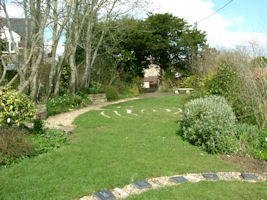 A view of the Hinton St Mary Millennium Gardens