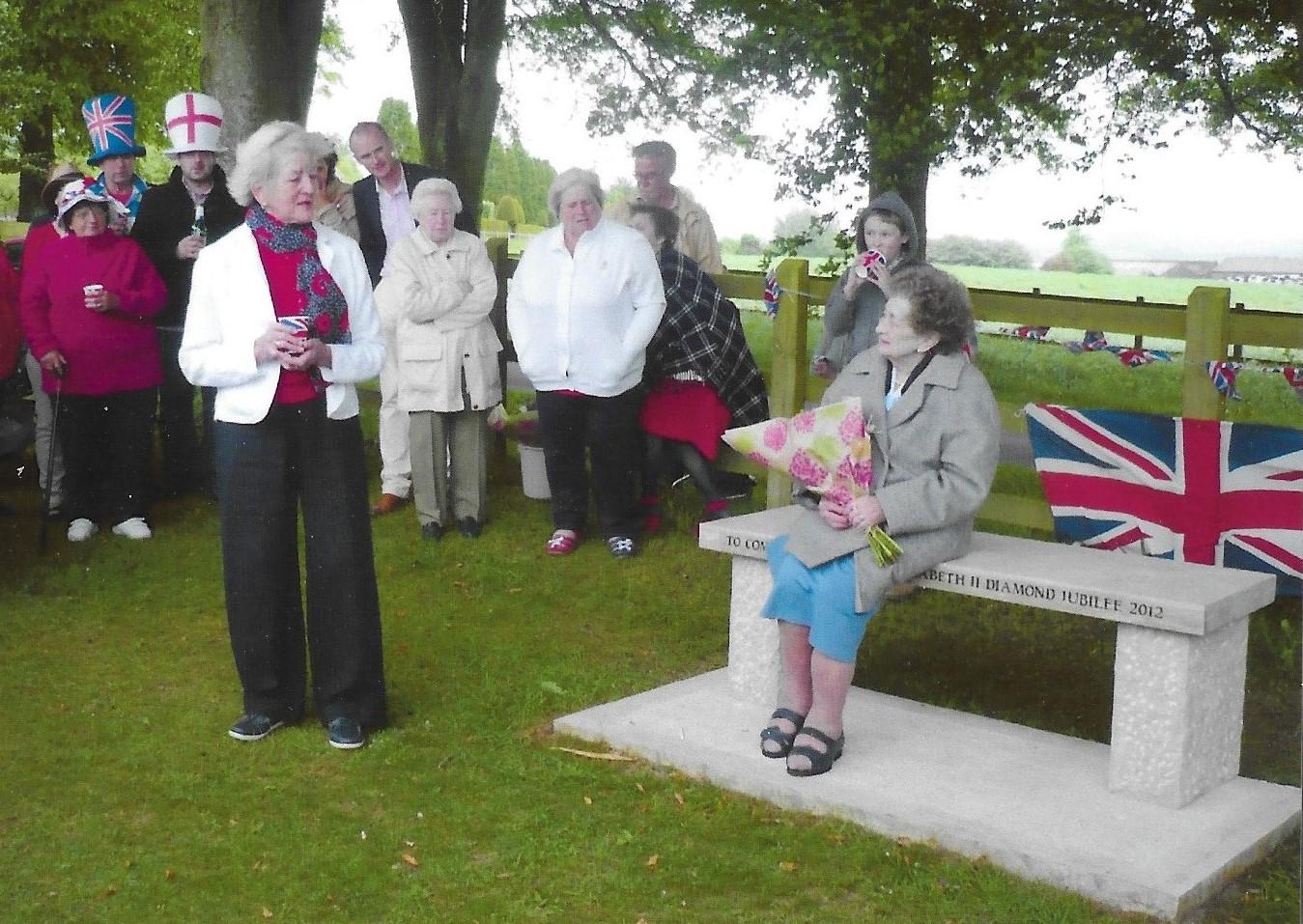 Inauguration of Jubilee Seat June 2012