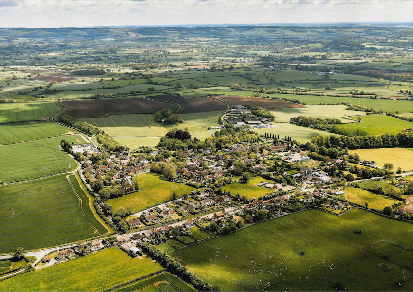 Village from the Air Looking East 2014